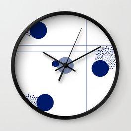 Minimalist blue art Wall Clock