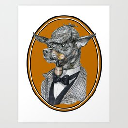 Min-Pin Holmes Art Print