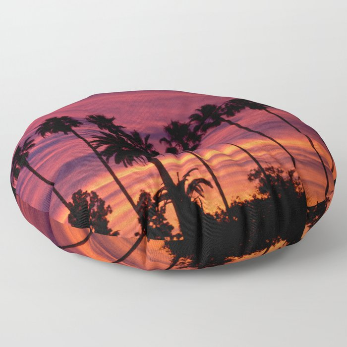 Sunset over Hollywood Floor Pillow