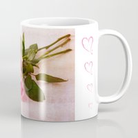 roses Mugs featuring Roses by Fine Art by Rina