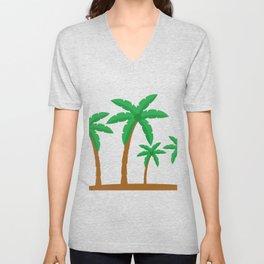 Palm tree Unisex V-Neck