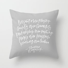 Present Over Perfect Throw Pillow