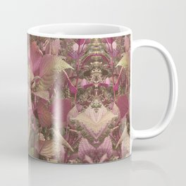 Red Shiso Warm Tones Pattern Coffee Mug