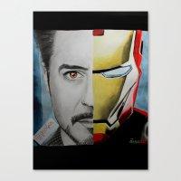 tony stark Canvas Prints featuring Tony Stark by Goolpia