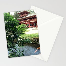 Koa Pond beside the Towering Temple Stationery Cards