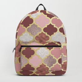Warm rose gold moroccan Backpack