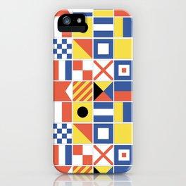 Nautical Flags iPhone Case