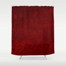 Red Crushed Velvet Shower Curtain