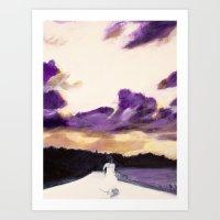 bride Art Prints featuring Bride by Chris Baily