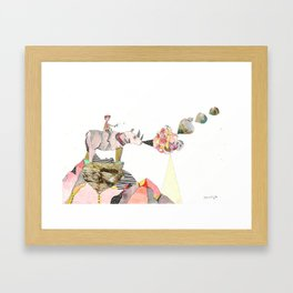 Rhinos Smell Roses Too Framed Art Print