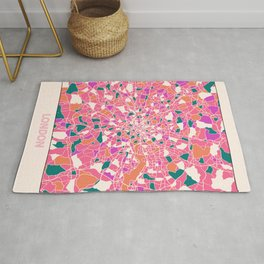 London England Colorful Map Rug