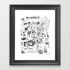 MILLENIALS - The Poster Framed Art Print