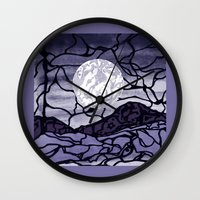 cracked Wall Clocks featuring Cracked by Mel Moongazer