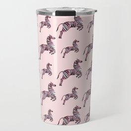 African pink zebras Travel Mug