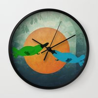 platypus Wall Clocks featuring Platypus Love by Cody Weber