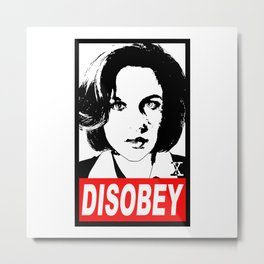 Disobey Scully Metal Print