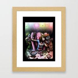 Zombie Tea Party Framed Art Print