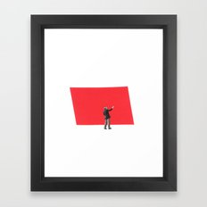 Black and White and Red All Over 5 Framed Art Print
