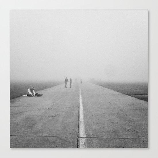 Misty Road Canvas Print