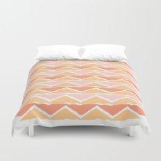triangle sunset Duvet Cover