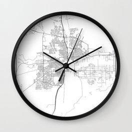 Minimal City Maps - Map Of Pueblo, Colorado, United States Wall Clock