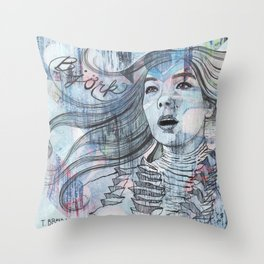 Bjork - I'm A Whisper In Water Throw Pillow