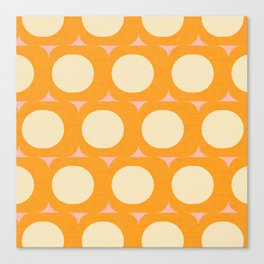 Dots and Triangles Yellow  #midcenturymodern Canvas Print