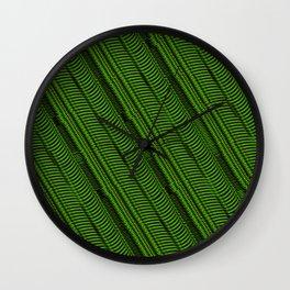 Lime Line Wall Clock