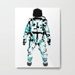 The Astronaut During Interstellar Travel Metal Print