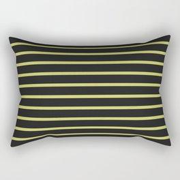 Black & Yellow Stripes Rectangular Pillow