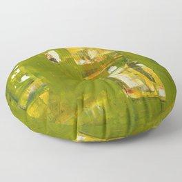 Iodine Green Abstract Art Modern Print Floor Pillow