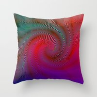 acid Throw Pillows featuring Acid by GypsYonic
