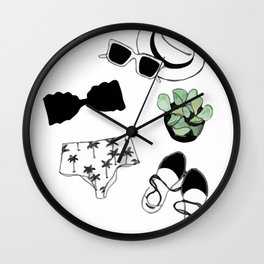 fashion summer set Wall Clock