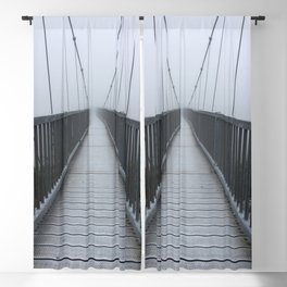 The Swinging Bridge in Fog on a Mountain Blackout Curtain