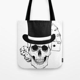 Skull and Dice, skull art, custom gift design Tote Bag