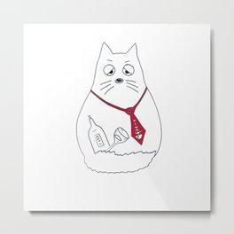 Funny cat. Metal Print