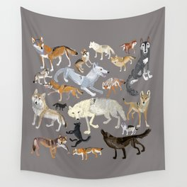Wolves of the world 1 Wall Tapestry