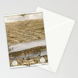 Bird's Eye View of Hermann, Missiouri (1869) Stationery Cards
