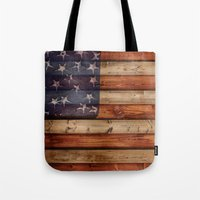 america Tote Bags featuring america by Arken25