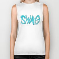 swag Biker Tanks featuring Swag by Creo