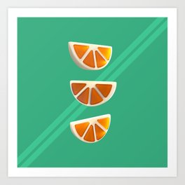 Orange Chew Candy Art Print
