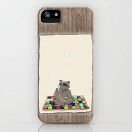 Raccoon Bubbles iPhone Case