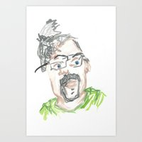 kevin russ Art Prints featuring Kevin by Sadie Padial