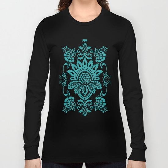 Damask in emerald Long Sleeve T-shirt