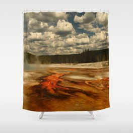Hot And Colorful Thermal Area Shower Curtain
