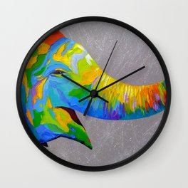 Smiling elephant Wall Clock