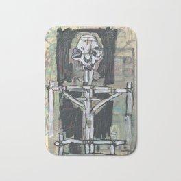 Esquelet de moix amb cos de fustes Bath Mat