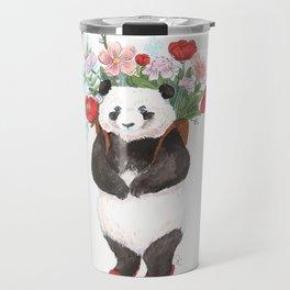 Flower Panda Travel Mug
