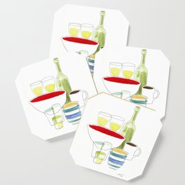 Bowls and Glasses Coaster