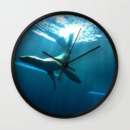 Underwater backflips Wall Clock